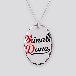 phinally done Necklace Oval Charm
